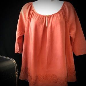 Lucky Brand Rust Color Blouse